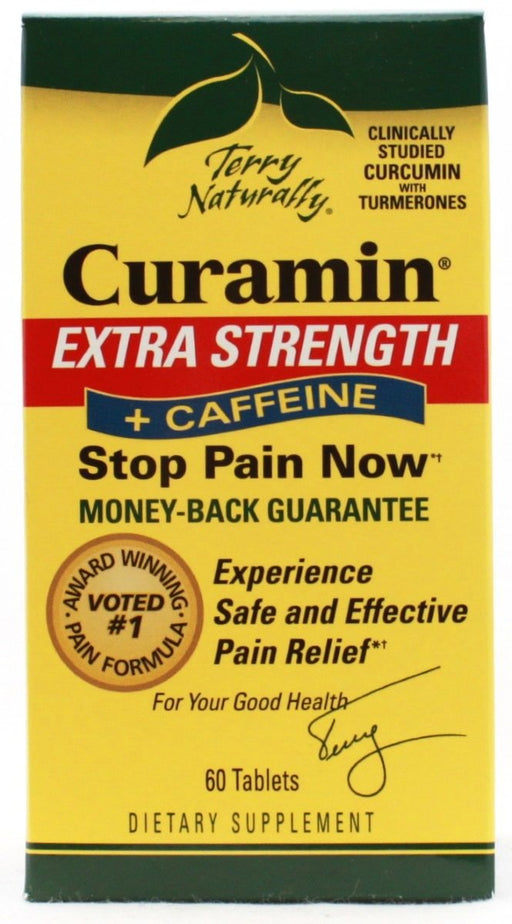 Curamin Extra Strength Plus Caffeine - 60 tablets