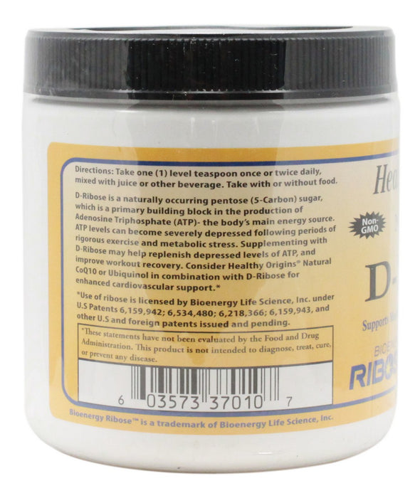 D-Ribose Powder - 10.6 oz - Information