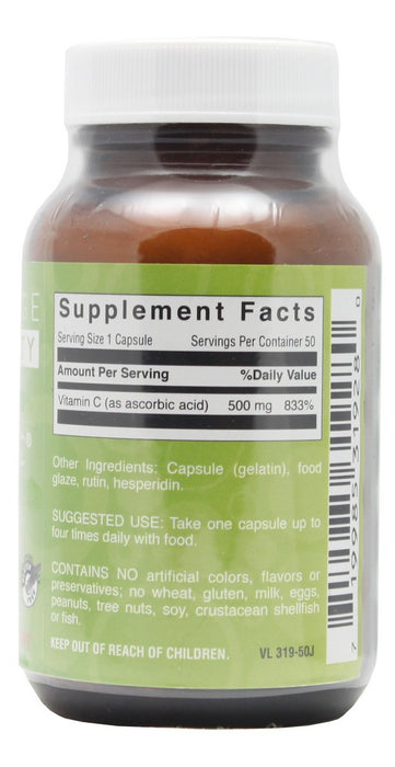 Day Long C 500 mg PR - 50 Capsules - Supplement Facts