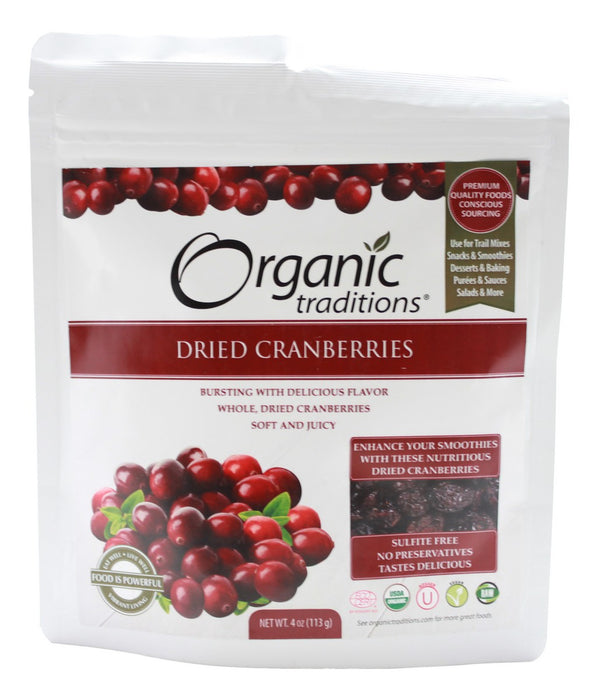Dried Cranberries - 4oz - Front
