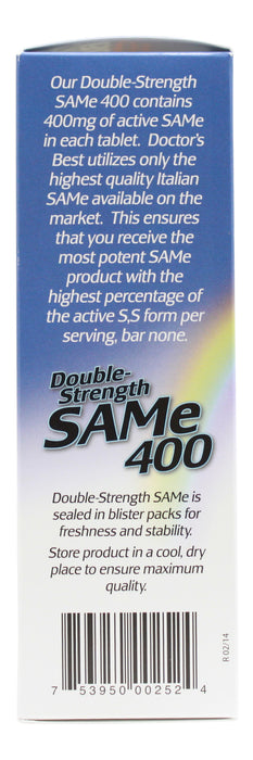 Sam-E 400 mg - 60 Tablets Info