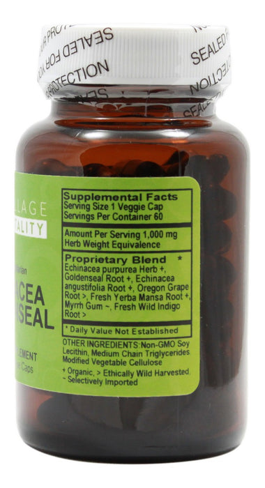 Echinacea Goldenseal - 60 Liquid Capsules - Supplement Facts