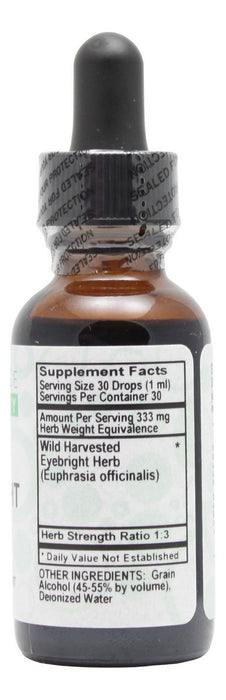 Eyebright - 1 oz Liquid - Supplement Facts