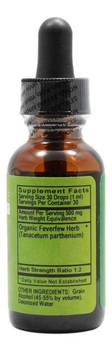 Feverfew - 1 oz Liquid - Supplement Facts