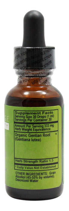 Gentian - 1 oz Liquid - Supplement Facts