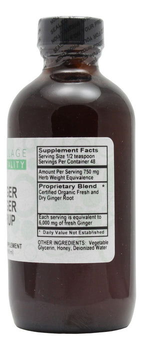 Ginger Zinger Syrup - 4 oz Liquid - Supplement Facts