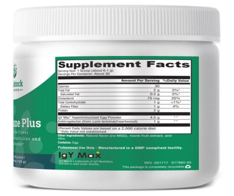 GI Immune Plus - Vanilla Flavor - 6.46 oz Powder