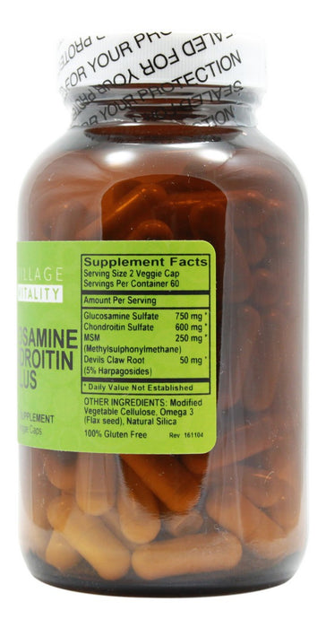 Glucosamine Chondroitin Plus - 120 Capsules - Supplement Facts