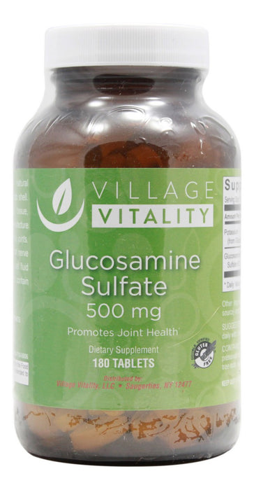 Glucosamine Sulfate 500 mg - 180 Tablets - Front
