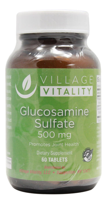 Glucosamine Sulfate 500 mg - 60 Tablets - Front