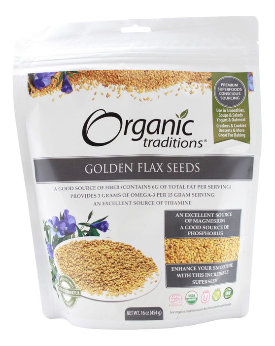 Golden Flax Seeds - 16 oz - Front