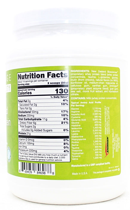 Grass Fed Whey Protein Vanilla - 18.77oz