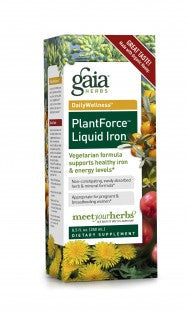 Gaia Plant Force Liquid Iron - 8.5 oz Liquid
