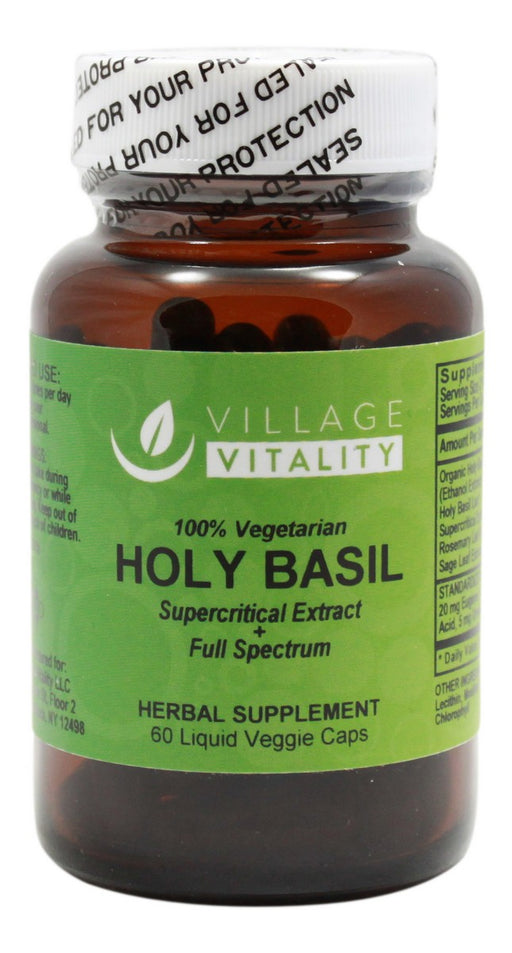 Holy Basil (Supercritical Extract and Full Spectrum) - 60 Liquid Caps - Front