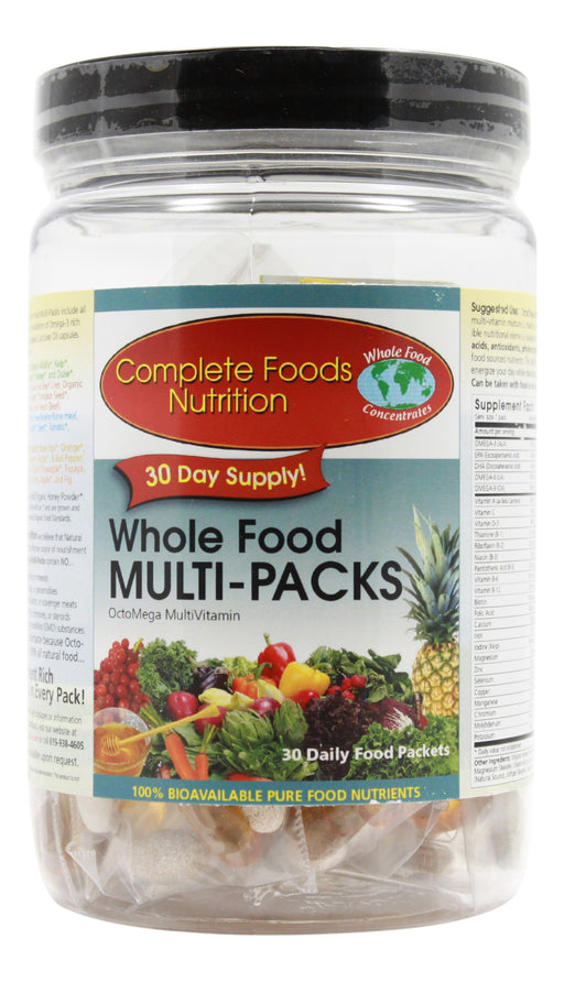 Whole Food Mult-Packs - 30 Packets Front