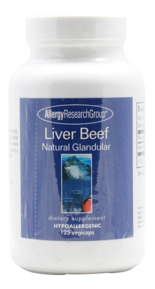 Liver Beef Natural Glandular - 120 Capsules - Front