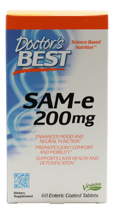 Sam-E 200 mg - 60 Tablets - Front