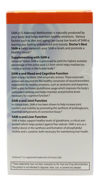 Sam-E 400 mg - 30 Tablets - Info