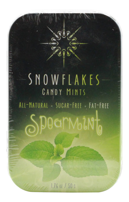 Spearmint Snowflakes - 1.76 oz Tin - Front
