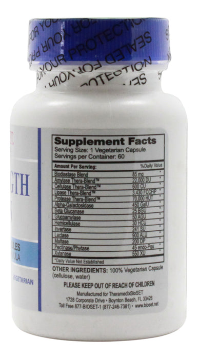 Super Strength Digestive - 60 Capsules - Supplement Facts