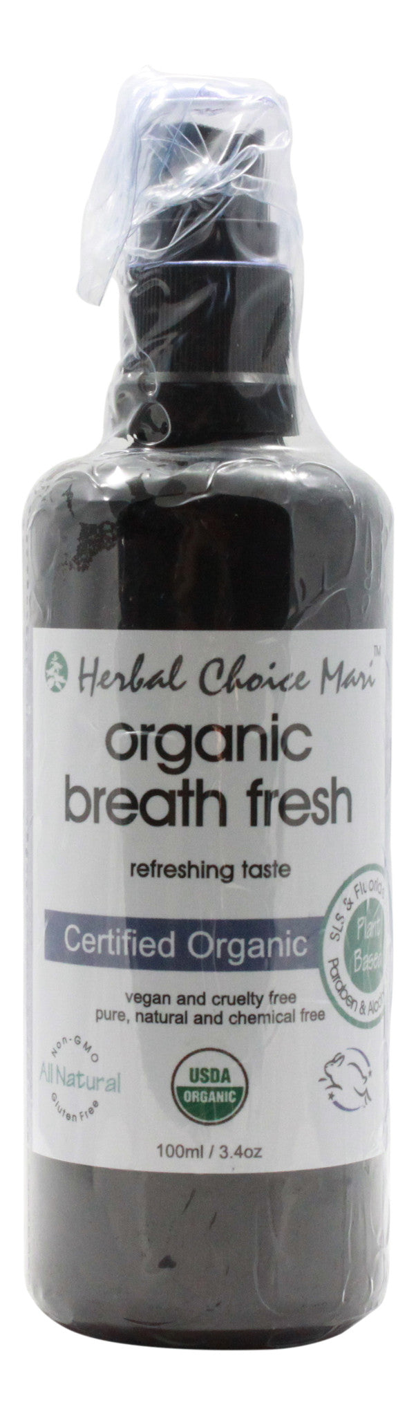 Organic Breath Fresh - Refreshing Taste - 3.4 oz Spray - Front