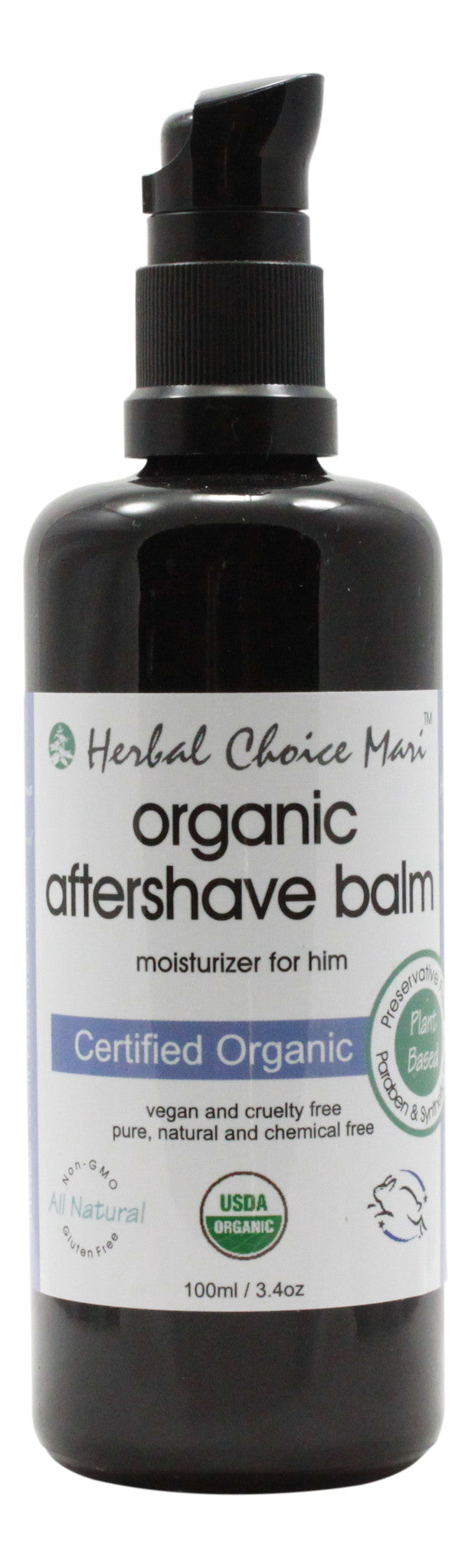 Organic Aftershave Balm Moisturizer For Him - 3.4 oz - Front