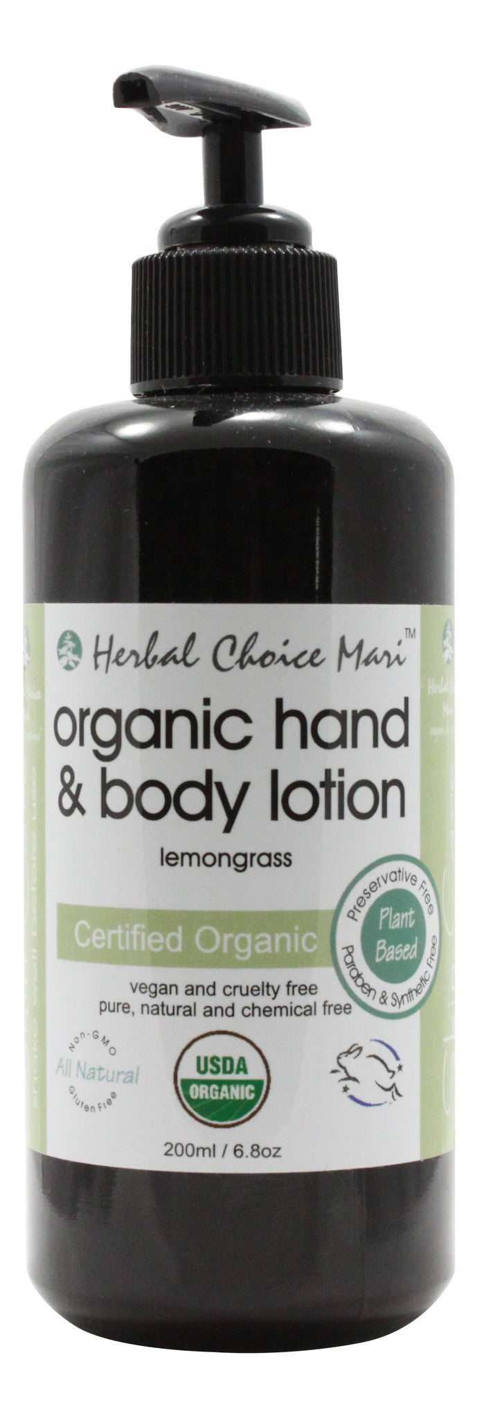 Organic Hand & Body Lotion - Lemongrass - 6.8 oz - Front