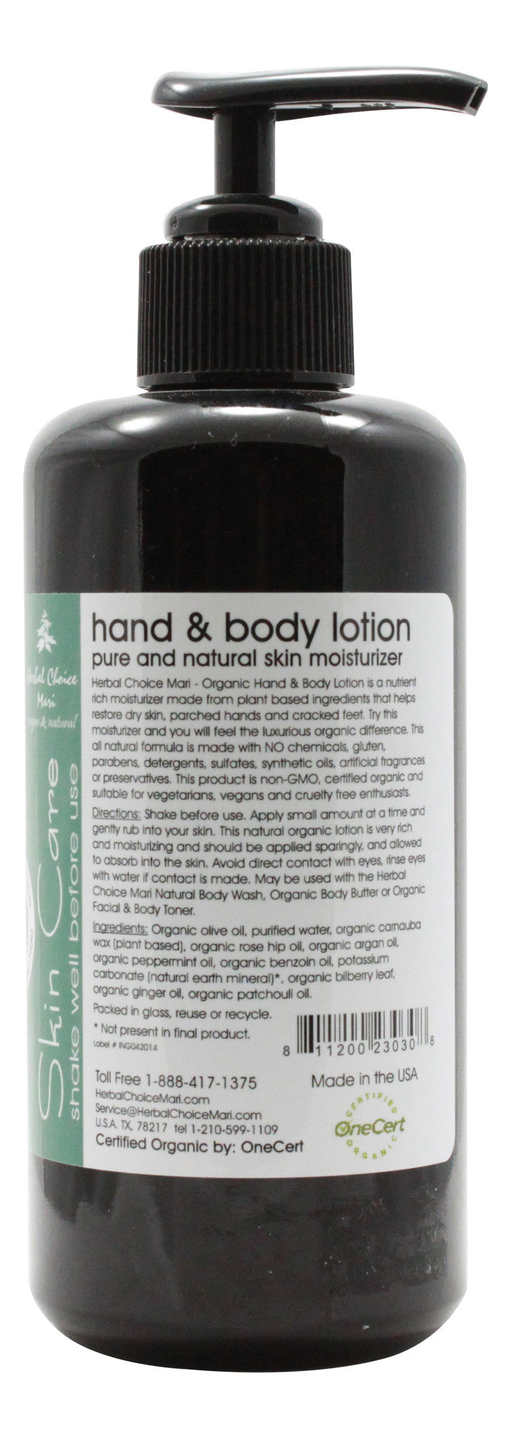 Organic Hand & Body Lotion - Peppermint & Ginger - 6.8 oz - Info