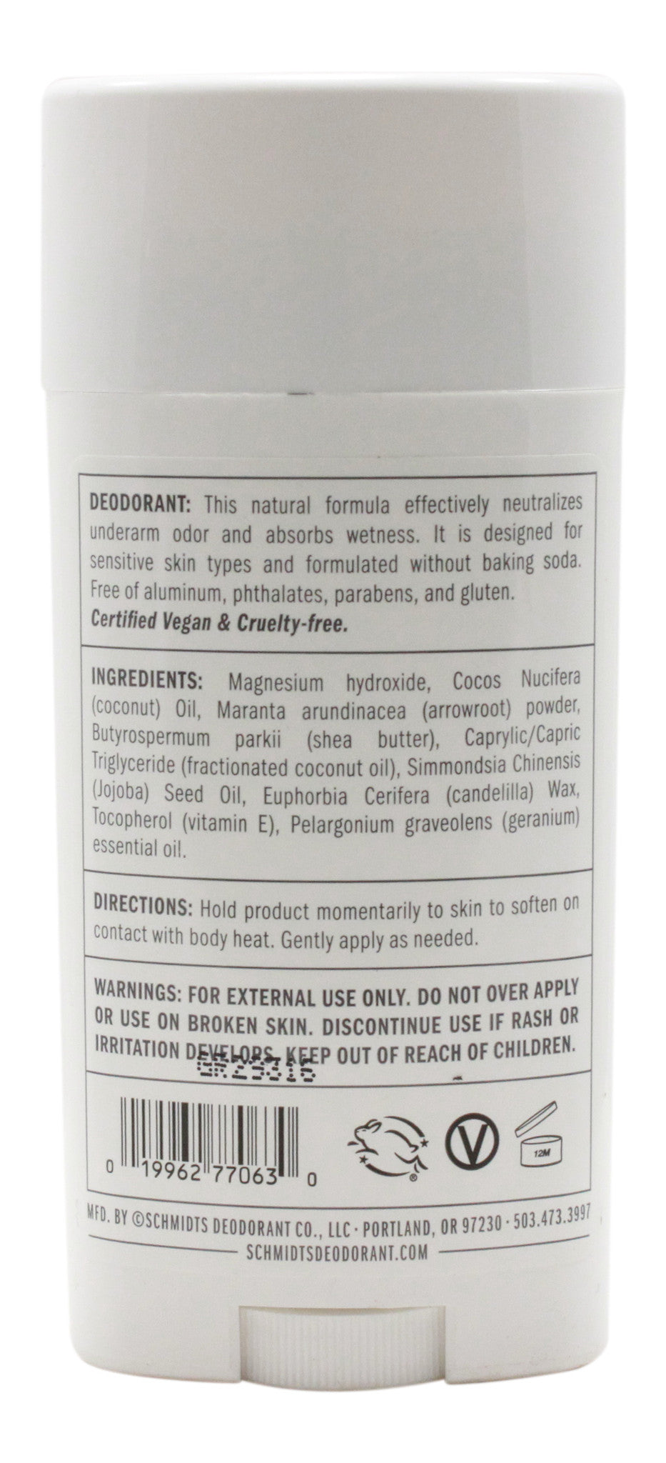 Geranium Sensitive Skin Formula Deodorant - 3.25 oz Stick - SF