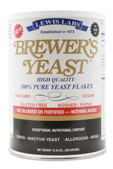 Brewer's Yeast Flakes, 12.35oz. - Front