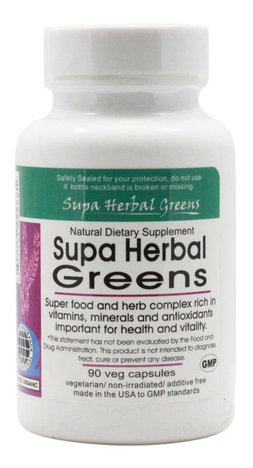 Supa Herbal Greens - 90 Capsules - Front