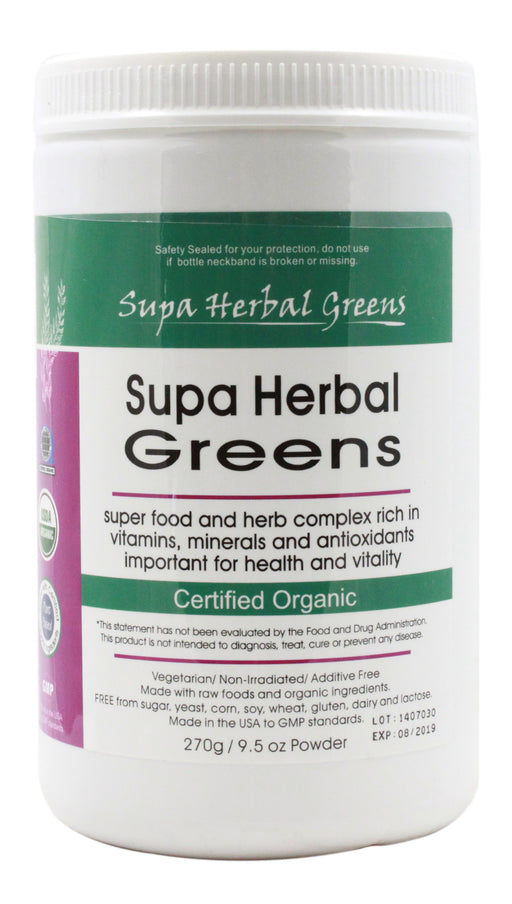Supa Herbal Greens Powder - 270 g - Front