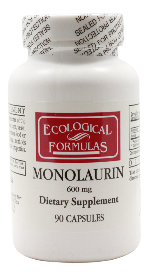 Monolaurin 600 mg - 90 Capsules - Front