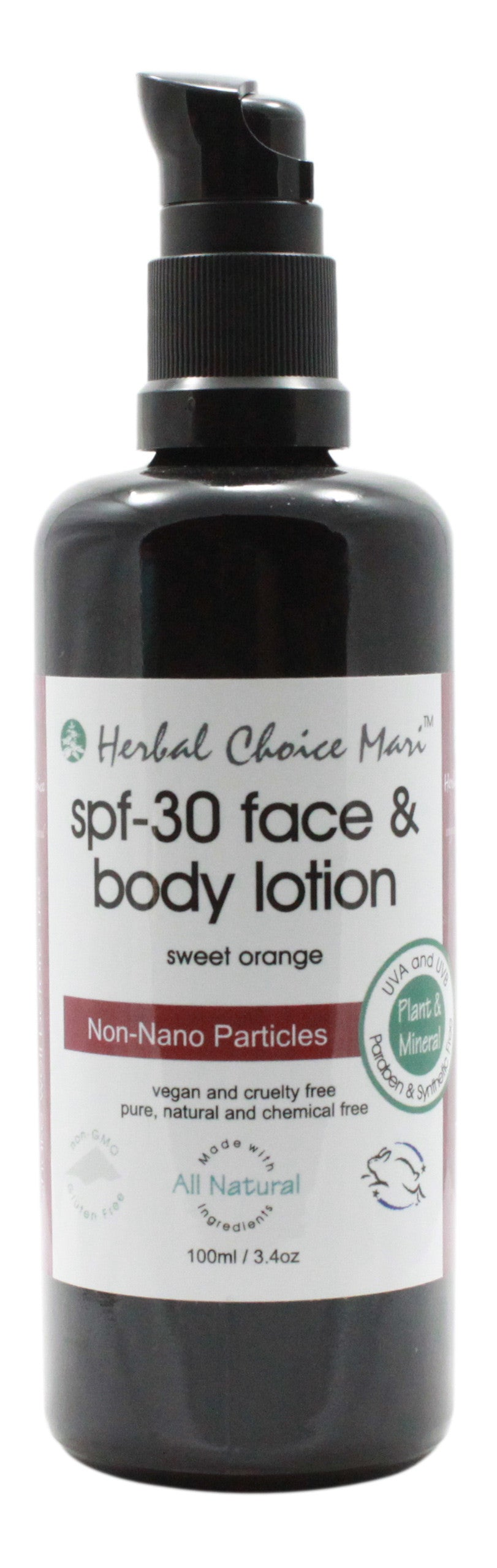 SPF- 30 Face & Body Lotion - Sweet Orange - 3.4 oz - Front