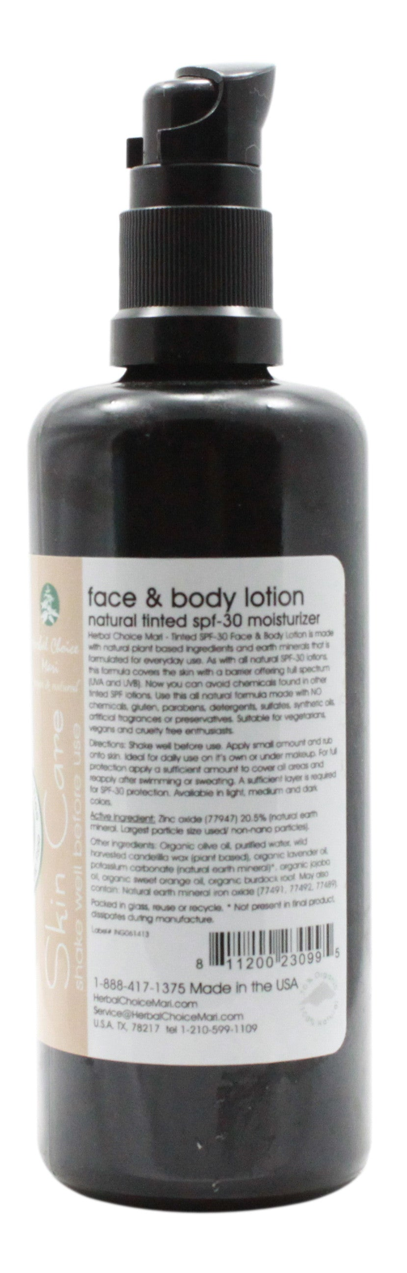 Tinted Face & Body Lotion - SPF 30 - Dark Honey - 3.4 oz - Info