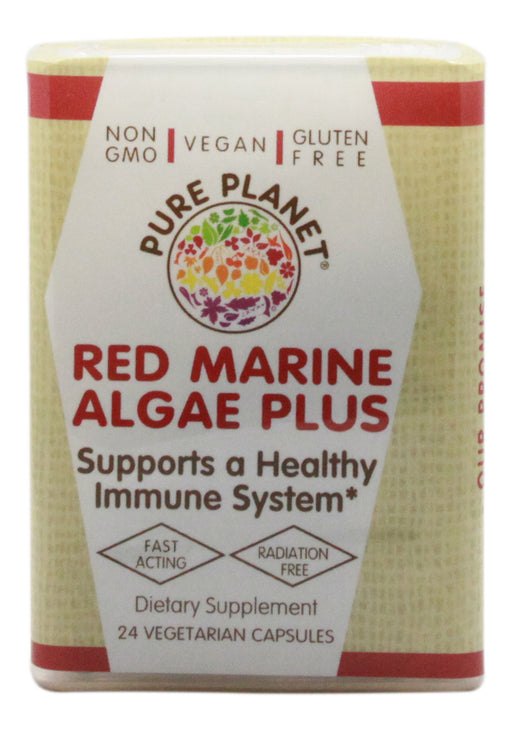 Red Marine Algae Plus - 24 Capsules - Front