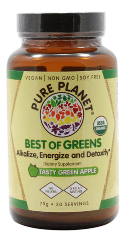 Best of Greens - Tasty Green Apple - 79 g Powder - Front