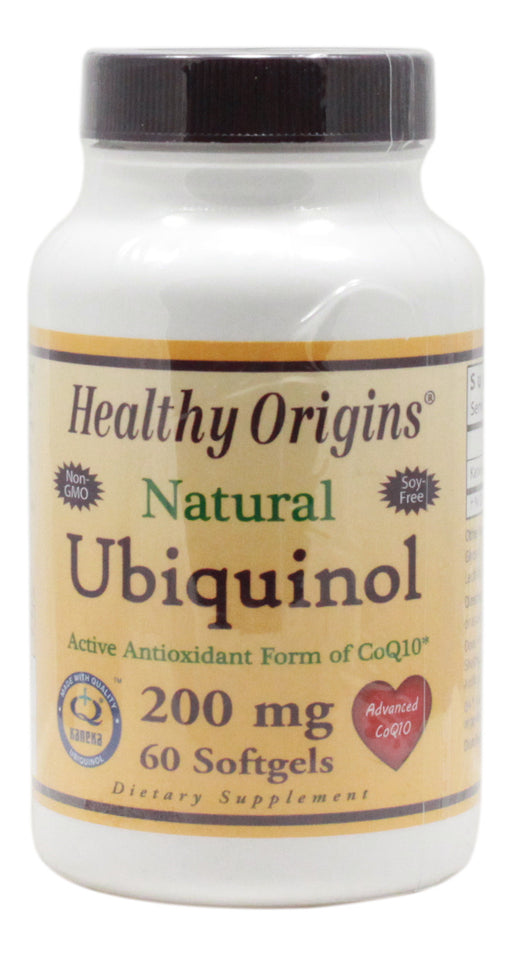Ubiquinol 200 mg - 60 Softgels - Front