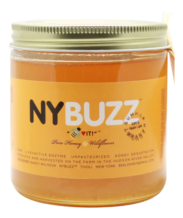 NYBuzz Pure Honey - 16 oz Jar Front