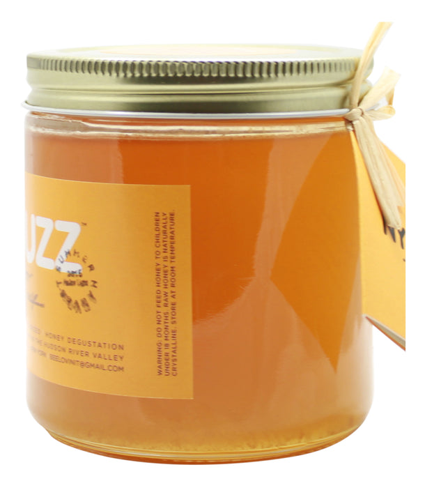 NYBuzz Pure Honey - 16 oz Jar Side 1