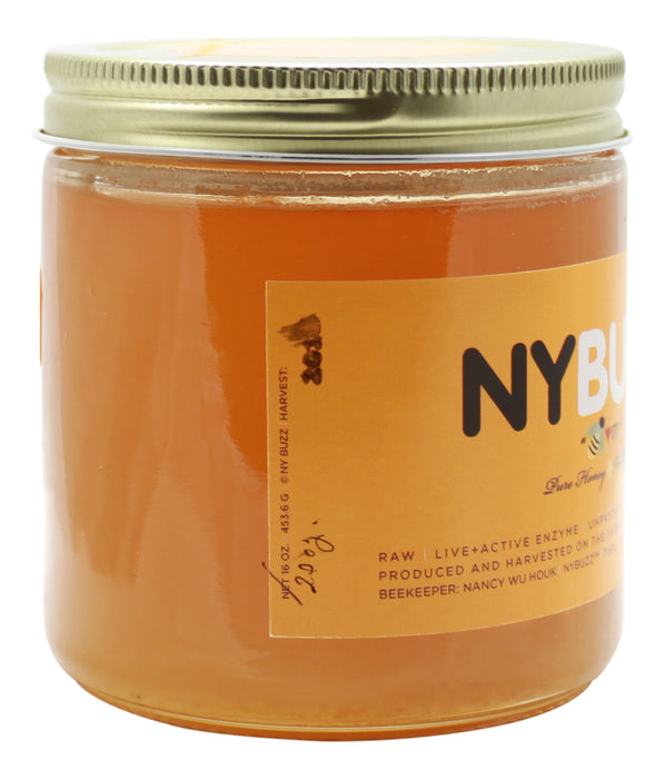 NYBuzz Pure Honey - 16 oz Jar Side 2