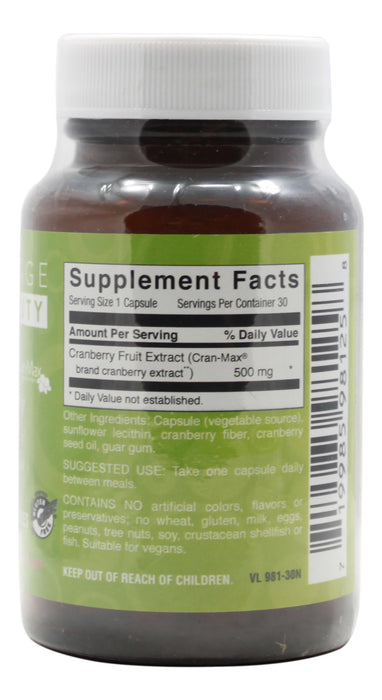 Cranberry - 30 Capsules - Supplement Facts