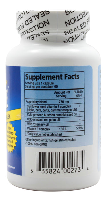 Purely-E - 60 Capsules Supplement Facts