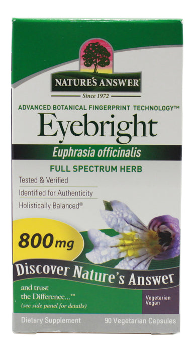 Eyebright 800 mg - 90 Capsules Front