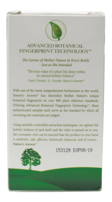 Eyebright 800 mg - 90 Capsules Side 2