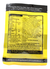 P3 Paleo Plant-Based Protein Vanilla Flavor - 1.4 oz Packet Back/ Supplement Facts