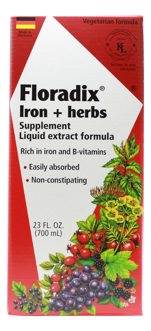 Floradix Iron and Herbs - 23 oz Liquid Front
