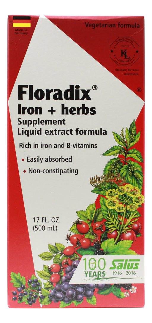 Floradix Iron and Herbs - 17 oz Liquid Front