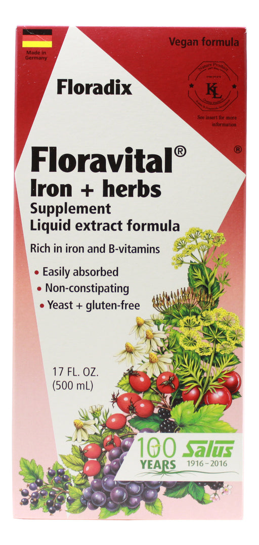 Floravital Iron and Herbs - 17 oz Liquid Front