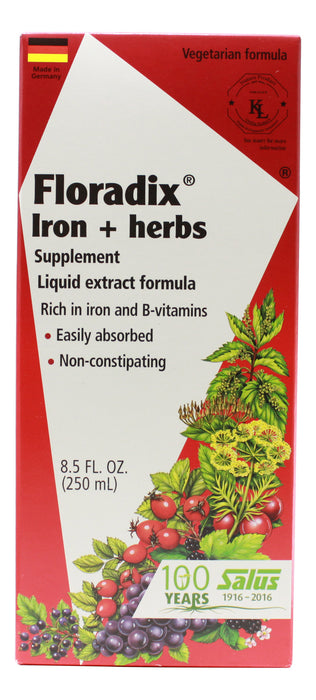 Floradix Iron and Herbs - 8.5 oz Liquid Front
